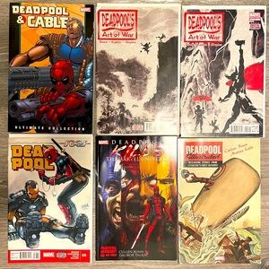 Deadpool Comic Books and Trades (bundle of 6)